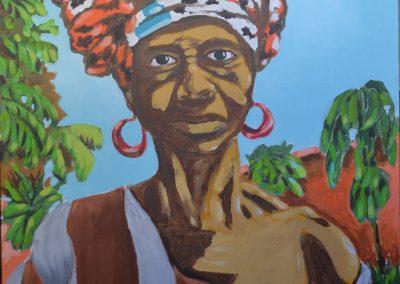 Mujer maliense bomba mecate